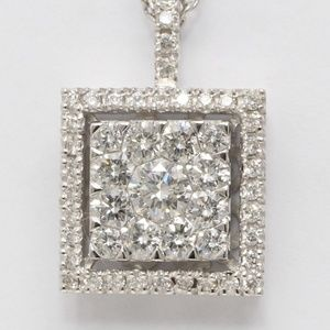 18K White Diamond Pendant 1.23 Ct C19000285